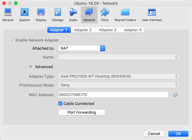 本机终端SSH连接VirtualBox中的Linux虚拟机